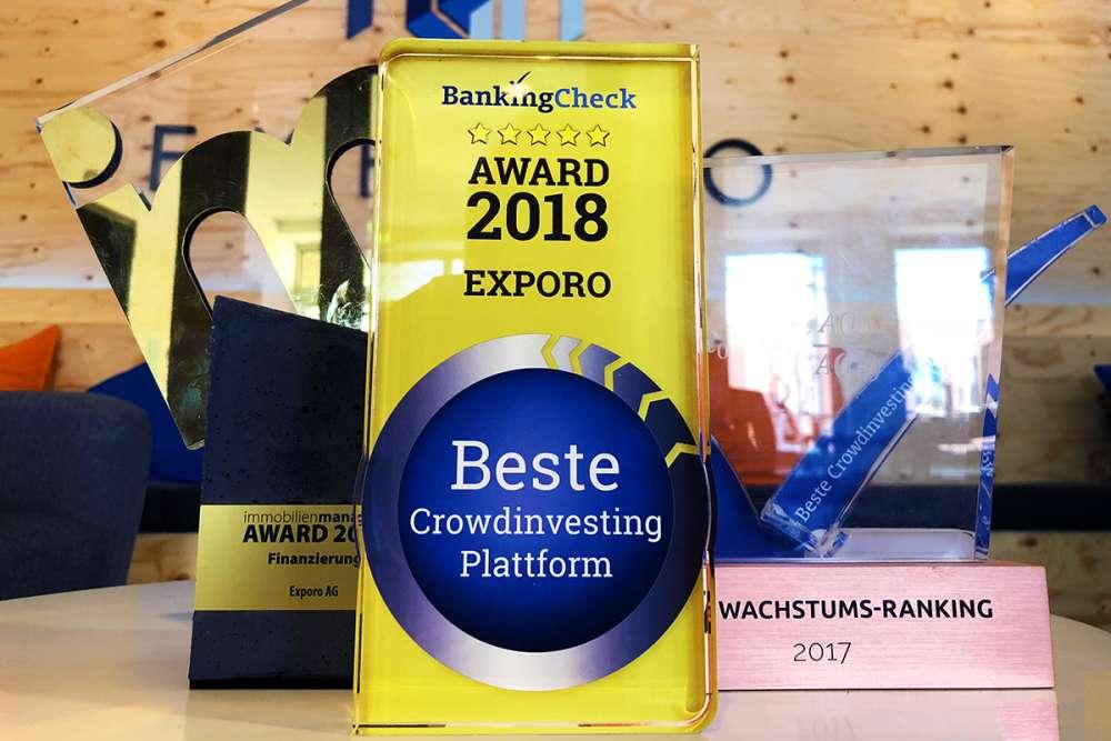 Exporo zur besten Crowdinvesting Plattform 2018 gekürt